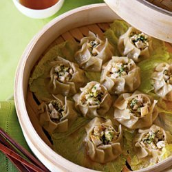 Steamed Vegetable Sui-Mai Dumplings with Chili-Sesame Oil recipe