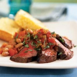 Southwestern Steak and Pinto Beans recipe