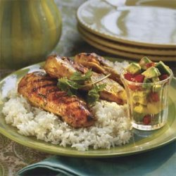 Margarita-Marinated Chicken With Mango Salsa recipe