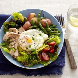 Tuna Niçoise Salad with Roasted Green Beans and Potatoes recipe
