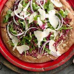 Arugula and Radicchio Salad Pizza recipe