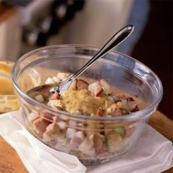 Dijon-Potato Salad with Smoked Chicken Sausage recipe