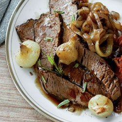 Red Wine-Braised Brisket with Caramelized Onions recipe