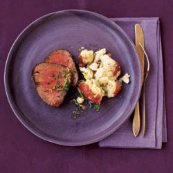 Beef with Parmesan Potatoes recipe