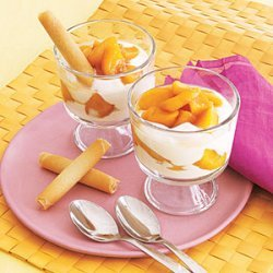 Brandied Peach and Yogurt Parfaits recipe