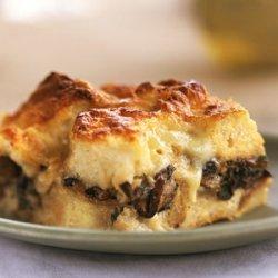 Double-Mushroom Bread Pudding recipe
