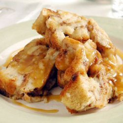 Cinnamon Bread Puddings with Caramel Syrup recipe