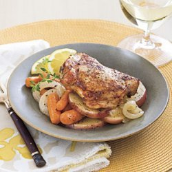 Chicken Thighs With Carrots and Potatoes recipe