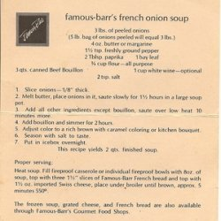 Famous-Barr's Onion Soup recipe