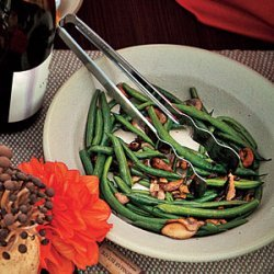 Buttered Green Beans and Mushrooms recipe