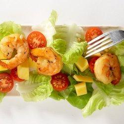 Coconut-Rice Salad with Mango and Shrimp recipe