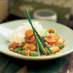 Kung Pao Scallops with Snap Peas recipe