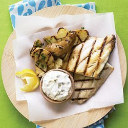 Grilled Fish and  Chips  recipe