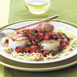 Scallops with Capers and Tomatoes recipe