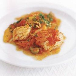 Halibut with Tomato, Orange, and Dill recipe