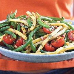 Mixed Bean-Cherry Tomato Salad with Basil Vinaigrette recipe