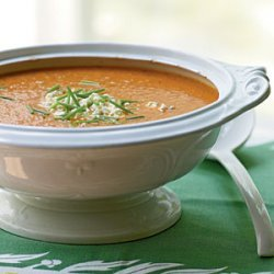 Roasted Corn, Pepper, and Tomato Chowder recipe