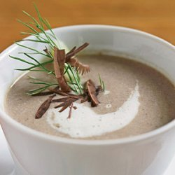 Mushroom Soup with Toasted Bread recipe