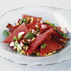 Watermelon Salad with Mint and Crispy Prosciutto recipe