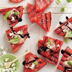 Grilled Watermelon with Blue Cheese and Prosciutto recipe
