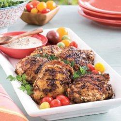 Grilled Chicken Thighs with White Barbecue Sauce recipe