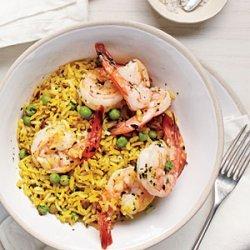 Shrimp and Pea Rice Bowl recipe