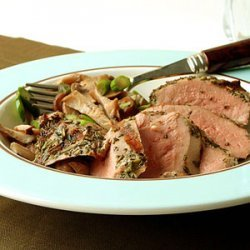 Grilled Duck with Warm Mushroom Salad and Truffle Vinaigrette recipe