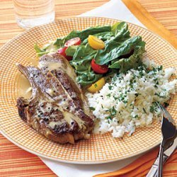 Lamb Chops with Tahini Sauce recipe