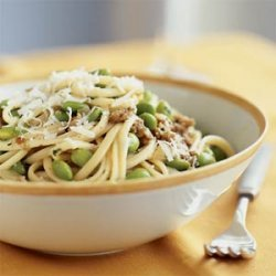Linguine with Soybeans and Sausage recipe