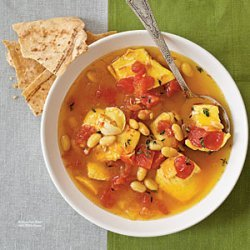 Saffron Fish Stew with White Beans recipe