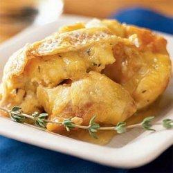 Petite Crème Citrus Bread Pudding with Passionfruit Caramel Sauce recipe