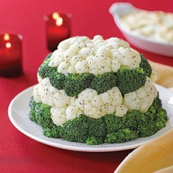 Broccoli and Cauliflower Tower recipe