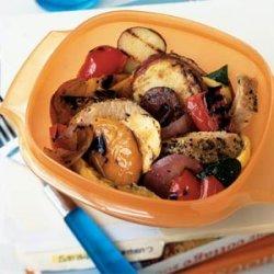 Pork and Grilled Vegetable Salad recipe