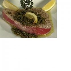 Grilled Tuna with Brown Butter Caper Sauce recipe