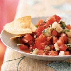 Gazpacho Salad with Tomato Vinaigrette recipe