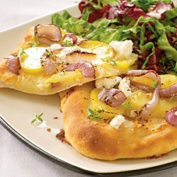 Red Onion, Potato, and Goat Cheese Pizza recipe