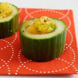Yellow Tomato Gazpacho in Cucumber Cups recipe