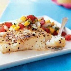 Grilled Halibut and Fresh Mango Salsa recipe