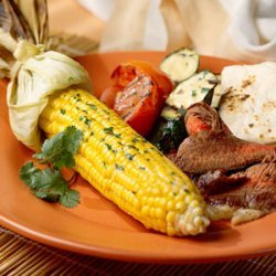 Grilled Vegetables with Cilantro Butter recipe