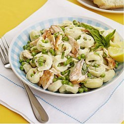 Tortellini Salad with Salmon and Peas recipe