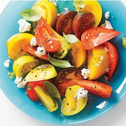 Tomato Salad with Goat Cheese and Basil recipe