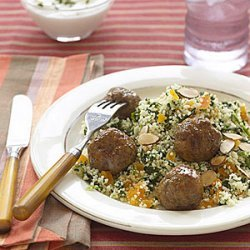 Lamb Meatballs over Couscous recipe