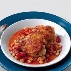 Baked Chicken with White Beans and Tomatoes recipe