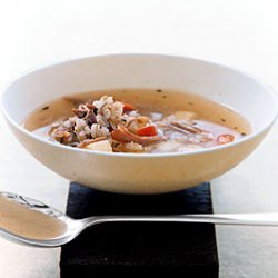 Barley Soup with Duck Confit and Root Vegetables recipe