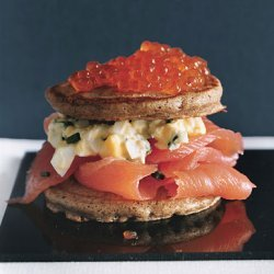 Caviar and Salmon Blini Tortes recipe