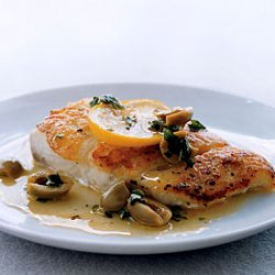 Fish Fillets with Olives and Oregano recipe