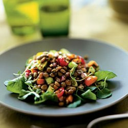 Lentil Salad with Tomatoes and Watercress recipe
