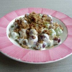 Coated Grape Salad recipe