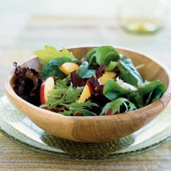 Mixed Greens and Nectarine Salad recipe
