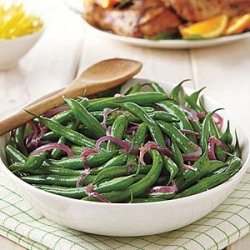 Green Bean Salad with Melted Red Onions recipe